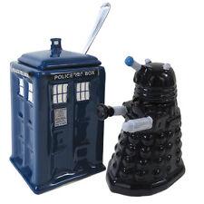 CLEARANCE PRICED Doctor Who Dalek & Tardis Creamer & Sugar Bowl