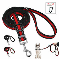 Stretch Elastic Bungee Dog Leash Lead For Dogs Training Black Red