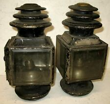 PAIR ADLAKE BRASS 3 TIER SIDE LAMPS PIERCE ARROW LOCOMOBILE FIAT MODEL T FORD