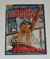 Michael Phelps Signed Auto SI Sports Illustrated 23x Olympic Gold Medalist - JSA