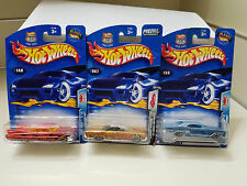 Lot of 3 For 1 Price HOT WHEELS Flamed LowRiders, Cadillac, Lincoln, & Riviera