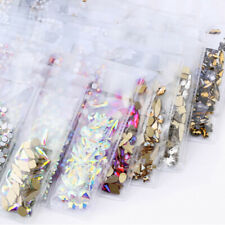 1788pcs Flatback 3D Nail Art Rhinestones AB Crystal Mix Shape Gems Glass Stones