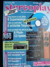 STEREOPLAY 6/93,ALR No.5,4,VISONIC V 900.1,RESTEK SAGA 3,DYNAUDIO CONTOUR 1.8