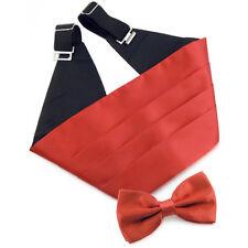 Ensemble Ceinture Smoking Noeud papillon rouge satiné - Cummerbund Bow tie  red 88d9ebcf3c3