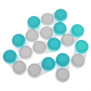 10pcs Screw Top Contact Lens Case Holder Container Soaking Storage