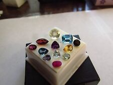 Natural Mixed Faceted Loose Gemstone Parcel Lot Green Sapphire Ruby Bytownite
