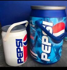 "2 Kooler Kraft PEPSI Can Cooler Ice Chest Cooler PEPSI Logo 20"" & 12"" Soda Pop"