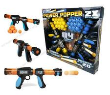 Atomic Power Popper 2 Gun Pack with 84 Soft Foam Balls (Indoor or Outdoor Game)