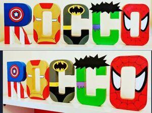 Childrens personalised names.Marvel Superhero Avengers End Game Superman batman