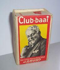Schöne ungeöffnete Packung Club - baai Tabak Gruno Groningen Holland 2 Wk ? !
