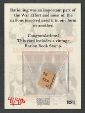 MILITARY PROPAGANDA & POSTER (Cult-Stuff) RATION BOOK STAMP CARD #RS1 (#41/400)