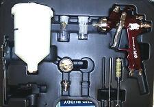 GPI PRO HVLP GRAVITY SPRAYGUN KIT IN CASE 1.3mm/1.8mm TIPS INCLUDED SPRAY GUN