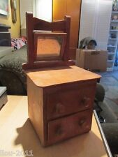 PRIMITIVE CHEST CHILD'S TOY DRESSER JEWELRY BOX ANTIQUE FOLK ART WOODEN BUREAU