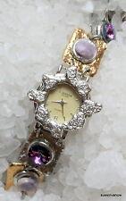 Designer Watch Amethyst gold silver J Jansen Unique wrist bracelet