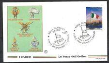 1998 ITALIA FDC FILAGRANO FORZE DELL'ORDINE NO TIMBRO DI ARRIVO - ED