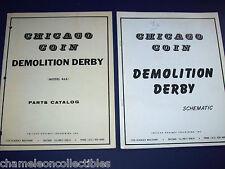Demolition Derby Chicago Coin Orig Video Arcade Game Parts Catalog + Schematics