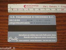 # PALMEIRAS CRUZEIRO BIGLIETTO TICKET ENTRADA 2° FINAL COPA MERCOSUL 1998