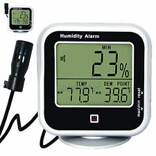 -20.2°F~138.2°F In & Outdoor Thermo-Hygrometer Thermometer °C/°F Dew Point Meter