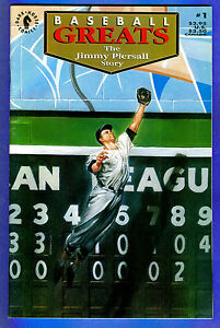The JIMMY PIERSALL Story - Baseball Greats # 1 (1992) 8 color cards bound in