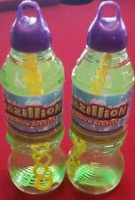 Lot Of 2 Gazillion Bubbles 1 Liter Bubble Solution 2 Liters Total w Wand NEW
