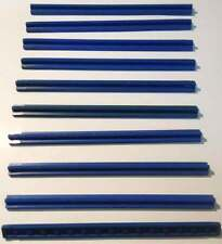 LEGO Train Parts: 3228 straight track pieces - pack of 10 - vintage blue