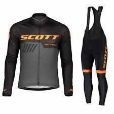 UK Mens Cycling Jersey Suit Gel Bib Pants Bike Sportswear Bicycle Clothing Set