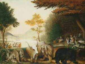 Edward Hicks The Peaceable Kingdom Giclee Art Paper Print Poster Reproduction