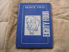 1984 Monte Vista Middle  School Yearbook San Jacinto California