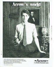 PUBLICITE ADVERTISING 027  1980   chemise homme Arrow   Arrow's world
