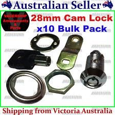 New: 10x 28mm Cam Lock / Door Lock - ARCADE / MAME / PINBALL - MACHINE