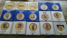 Lot of 15 M.J. Hummel Annual Plates Collection 1971 - 1985