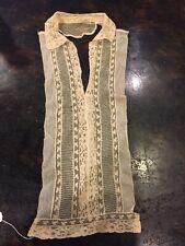 Antique Victorian Cotton Lace Chemisette Vestee Dickey 1800'S Gorgeous!
