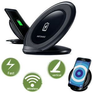 Induktive Ladestation  Wireless Ladegerät Qi Charger 15W Samsung iPhone HUAWEI