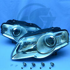 2x FANALI VW PASSAT 3c b6 05-10 SINISTRO DESTRO Set Vetro chiaro con lampadina