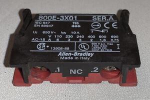 4 x Allen Bradley 800E-3X01 22.5MM Pushbutton Latchmount