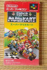 SUPER MARIO KART Complete Super Famicom SNES Japan SFC NTSC NEW BATTERY