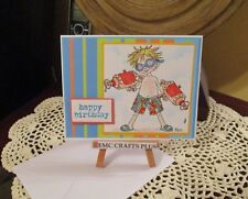 HAPPY BIRTHDAY ~ YOUNG BOY HANDMADE GREETING CARD ~emc#022