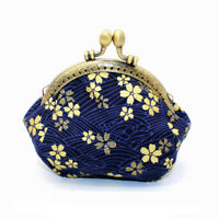 Collectable Handmade Japanese Style Fans Clasp Coin Purse Bag Change Wallets G
