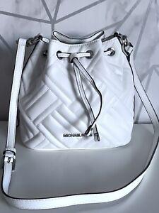 Michael Kors Peyton Chevron Quilted Leather crossbody Shoulder Bucket bag
