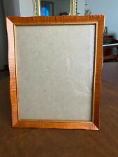 "Vintage Solid Walnut Wood Frame 8"" x 10"" Painted Gold Trim"