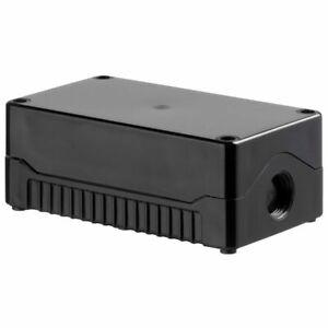 IP67 SEALED ABS JUNCTION BOX BLACK/BLACK PSB3BB 139 X 80 X 53mm