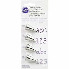 Wilton 4-Piece Writing Tip Cake Cupcake Cookie Icing Decorating Set - 418-4566