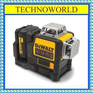 DeWalt DCE089LR-XJ 12V Li-ion Cordless 3 x 360° Red Beam Line Laser Level
