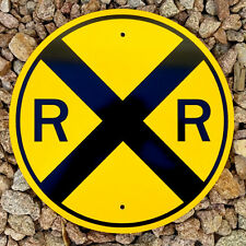 "RAIL ROAD CROSSING SIGN    /    12"" Aluminum  - Scaled Train Plaque - RR X-ING"