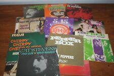 22 vinyles  / Deep Purple / Triangle / the Who / lot disques 45T /  70's et 80's
