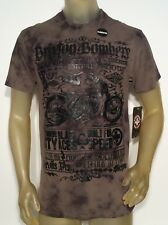 NWT MENS AFFLICTION BRIXTON BOMBER TEE SIZE M ELONGATED OLIVE GREEN NEW