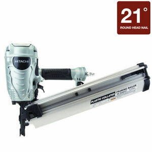 "HITACHI NR90AES1 2"" to 3-1/2"" Plastic Collated Framing Nailer Nail Gun Framer e1"