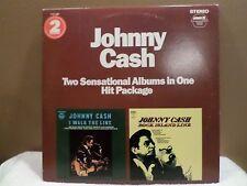 Johnny Cash Double LP Comp I Walk the Line & Rock Island Pickwick PTP-2045