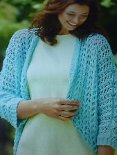 PatternTo Knit  Lovely Lacy Cardigan In  King Cole Bamboo Cotton D.K.32-40ins