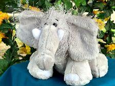 """Ganz Webkinz Beautiful Fuzzy Elephant 9"""" SOFT Plush Stuffed Animal Toy"""